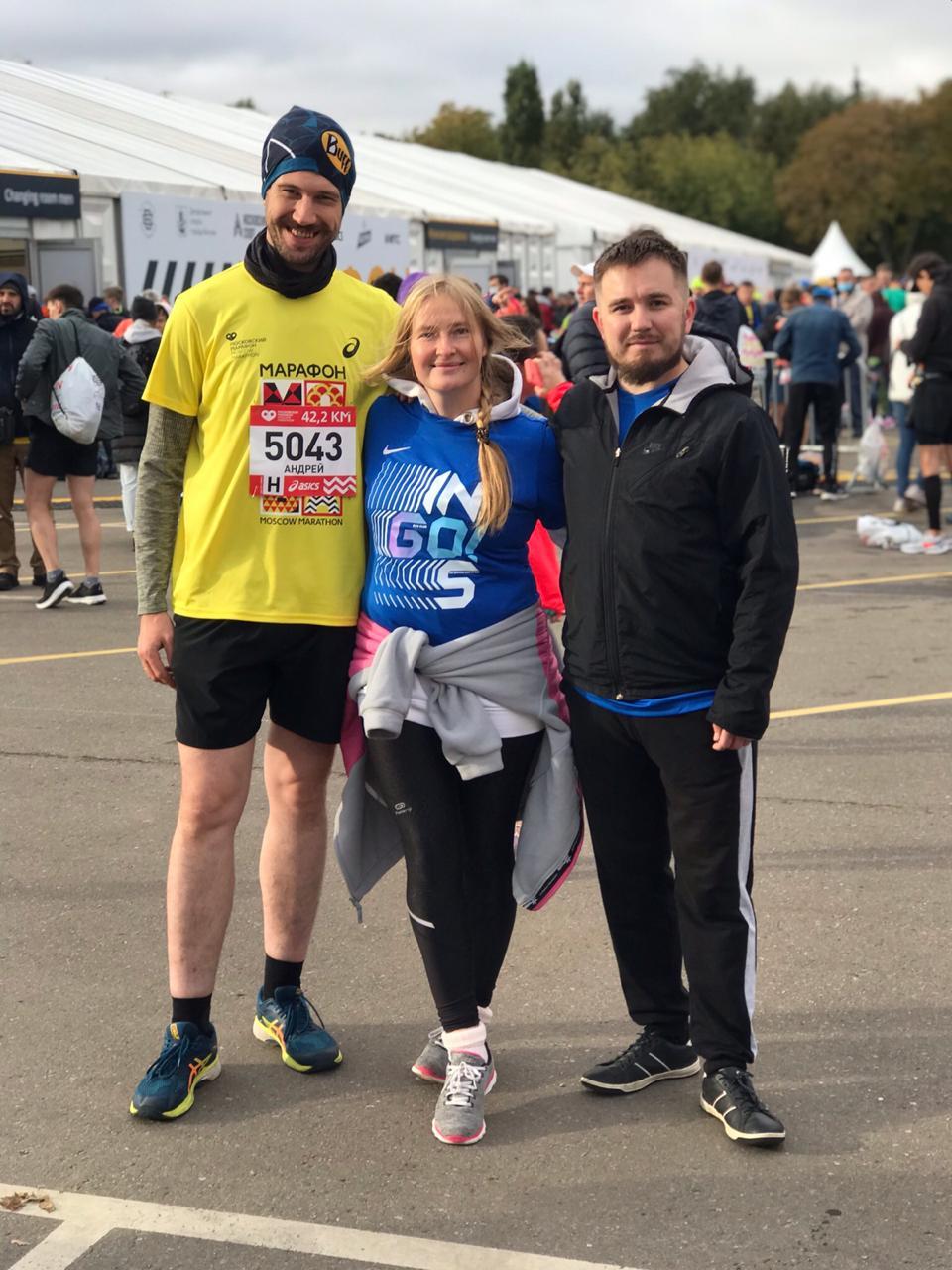 Жемковы - участники Московского марафона